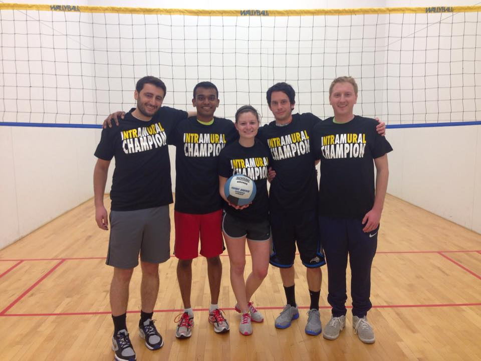 Intramural Wallyball Champions! ABE Legends