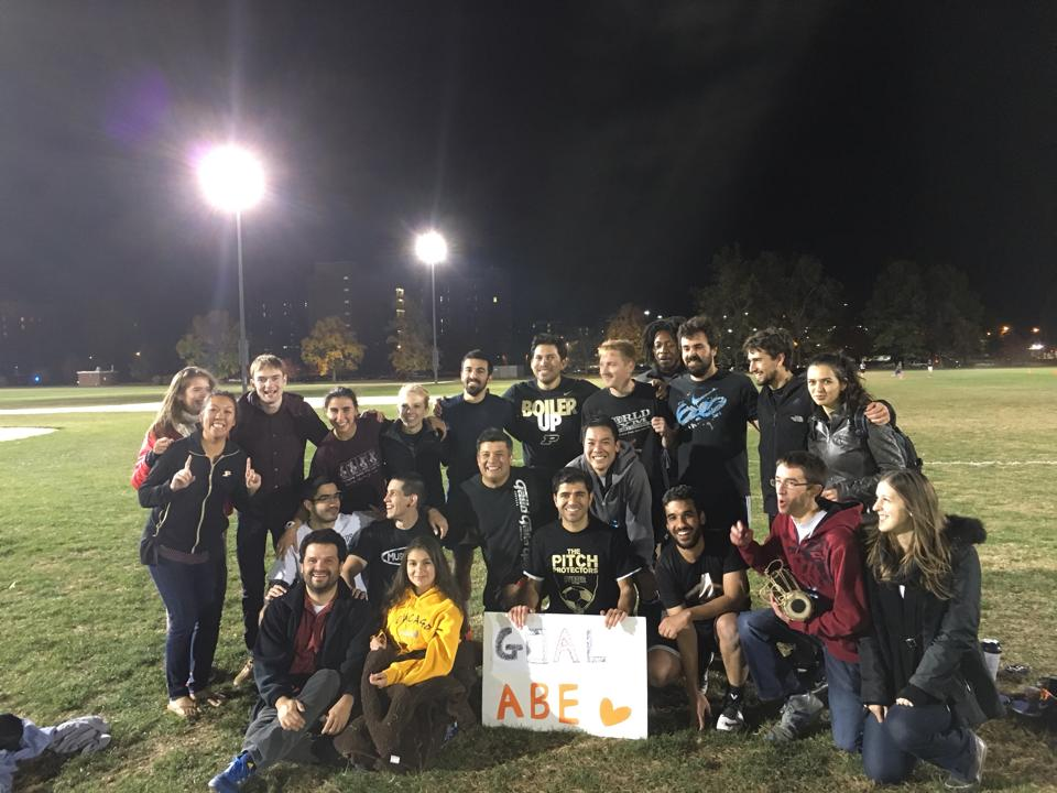 Intramural Soccer Semifinals! GOAL ABE! Sadly, they lost in the final - but what a great season!