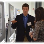 Alex Johnson (ENE Session Chair) at Poster Session, Symposium, Feb. 16, 2017