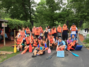 Canoe trip at the  Wildcat Creek
