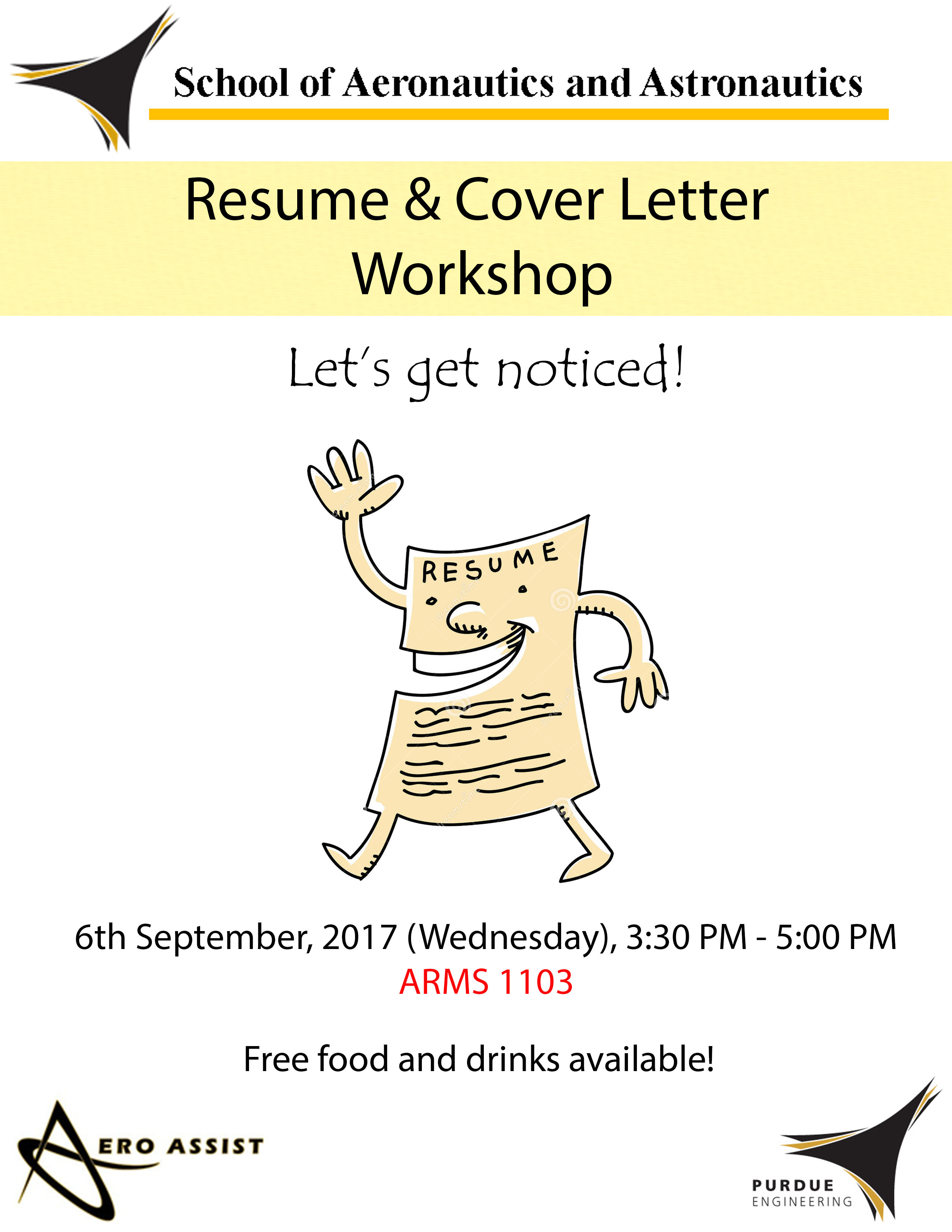 Resume Cover Letter Workshop School Of Aeronautics And