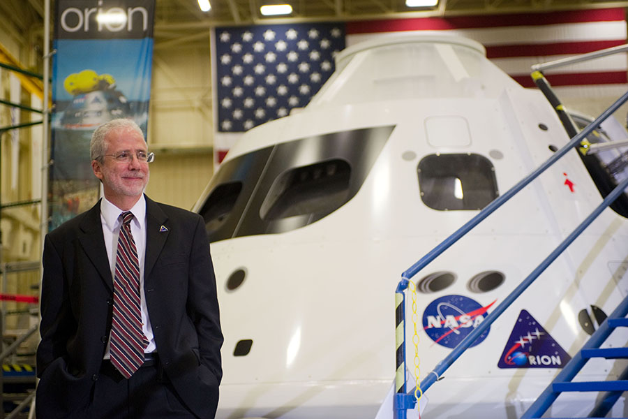 Mark Geyer is the 12th director at NASA's Johnson Space Center in Houston.