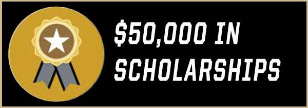 $50,000 in Scholarships