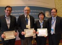 Dr. James Leary (2nd from left) and other award recipients