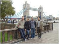 View larger image of students touring London with friends