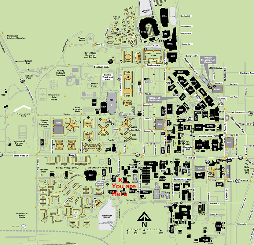 Purdue University Campus Map Purdue University Campus Map
