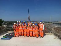Students visit Reading Station construction site