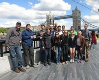 Students visit the Tower Bridge in London