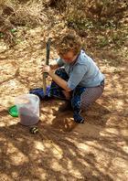 Jessica digging