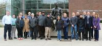 Group with Neil Armstrong Statue