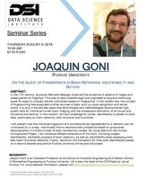 Flyer for Goni-DSI seminar