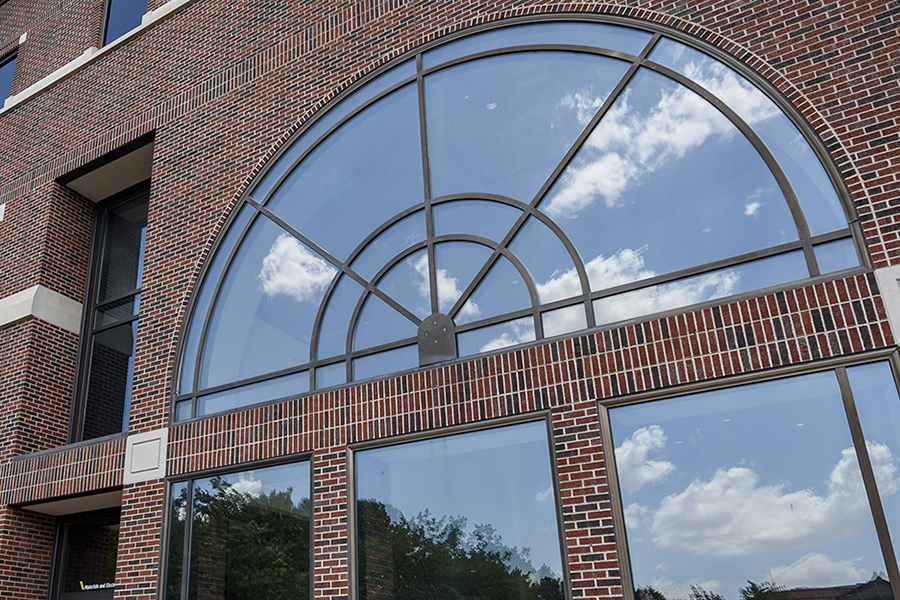 MSEE building arched window