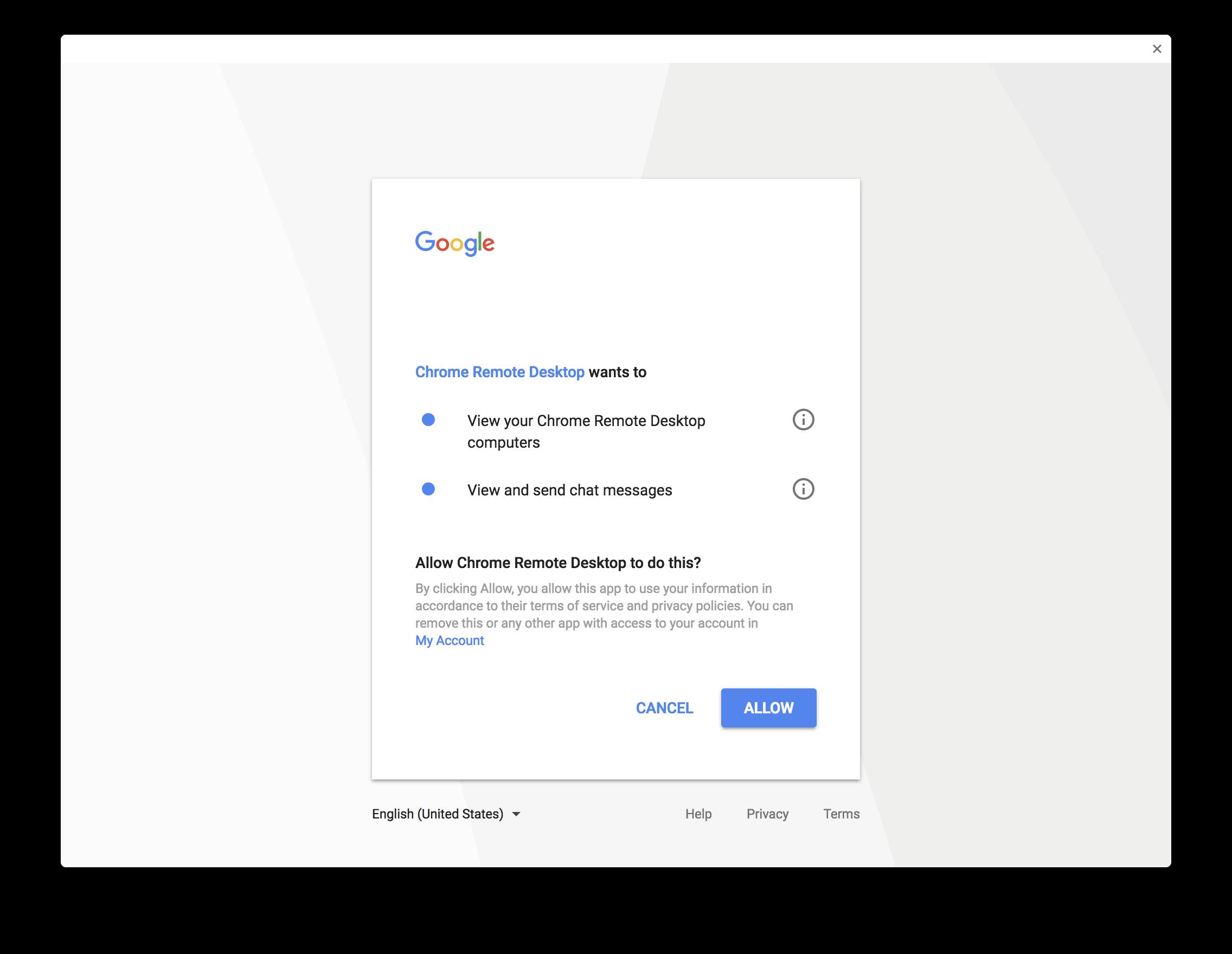 Google Chrome Remote Desktop - Engineering Computer Network