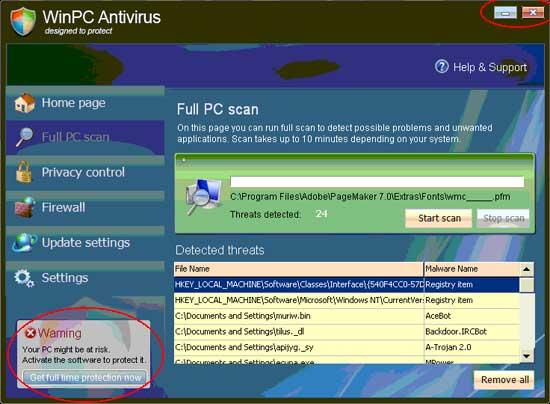 Fake Virus Alerts - Engineering Computer Network - Purdue