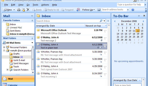 Configuring Outlook 2007 for IMAP to ECN - Engineering