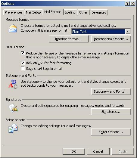 Outlook: Settings for maximum readability - Engineering