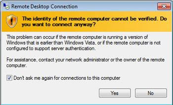 Remote computer identity