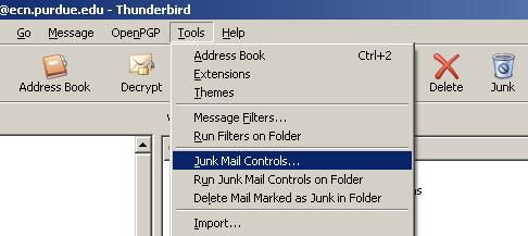 Enable Thunderbird\u0027s Built-in Junk Mail Controls - Engineering