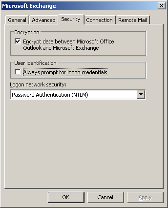 Outlook: Unable to Log In To Exchange - Engineering Computer Network