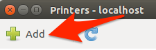 Ubuntu printers add button
