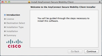 AnyConnect client installer window