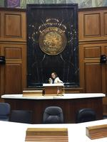 Audrey Moeller at Indiana Statehouse
