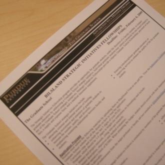Bilsland Dissertation Fellowship notice