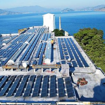 PV panels at Alcatraz