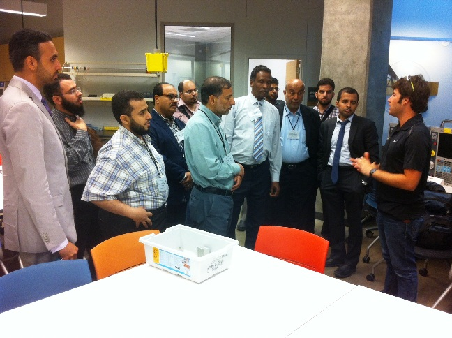 King Fahd Univ professors tour i2i lab space