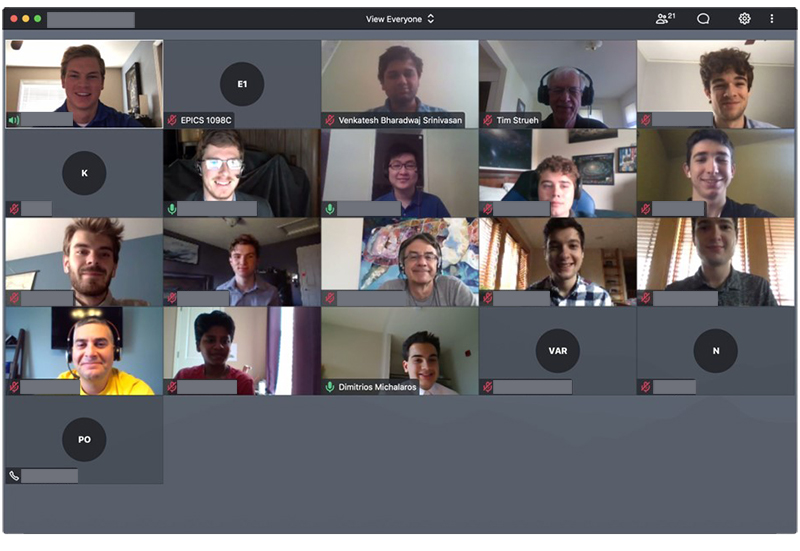 Zoom Meeting Screenshot with students and instructors