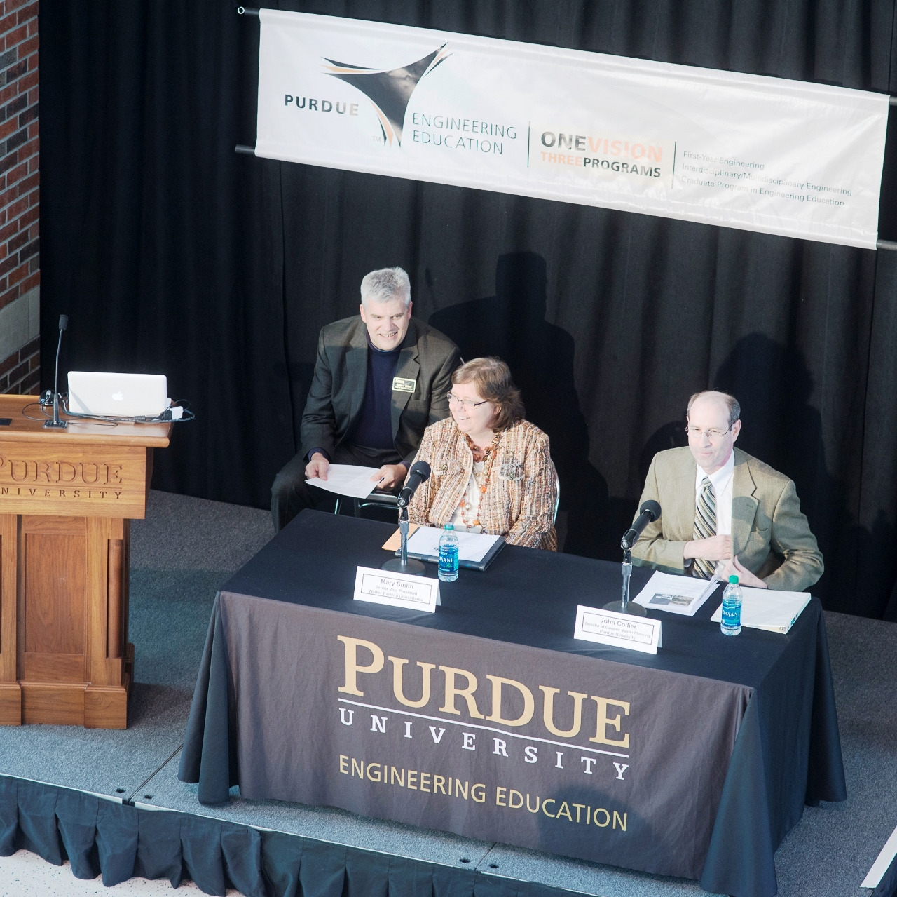 Moderator Matt Ohland with presenters Mary Smith and John Collier