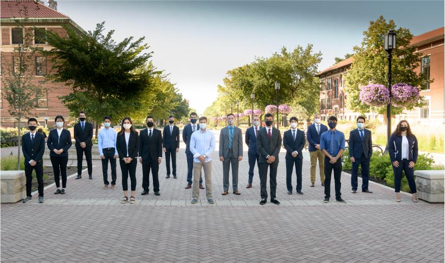 graduate students outside