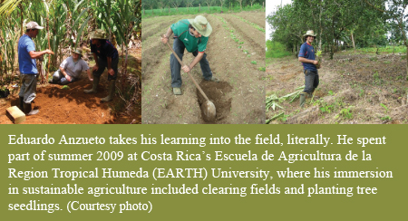 Eduardo Anzueto takes his learning to Costa Rica
