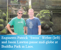 "Patrick ""Swiss"" Weber and Jason Lawton"