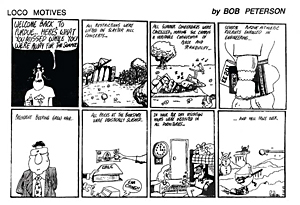 Peterson's Exponent campus comic strip