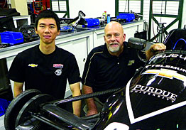 Di Xu, a graduate student in Mechanical Engineering, and Danny White