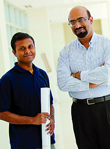 Doctoral student Biswajit Ray and Muhammad Ashraful Alam