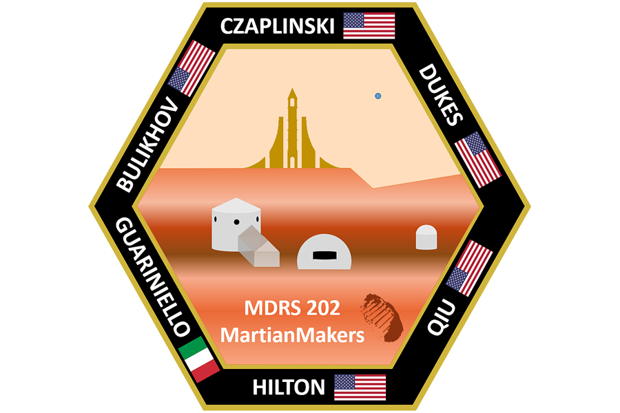 The uniform patch for MartianMakers team headed to the Mars Desert Research Station later this month.