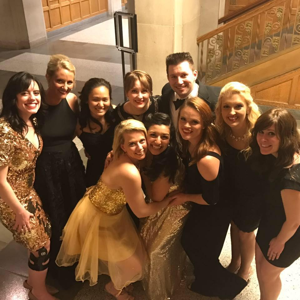 Allissa (2nd from right) performed with the Purduettes for four years.