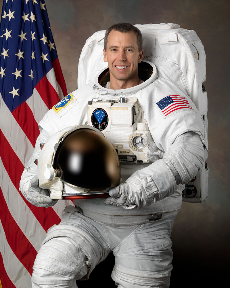 Expedition 55/56 will mark Drew's third spaceflight, and his first long-term space mission. Photo courtesy NASA