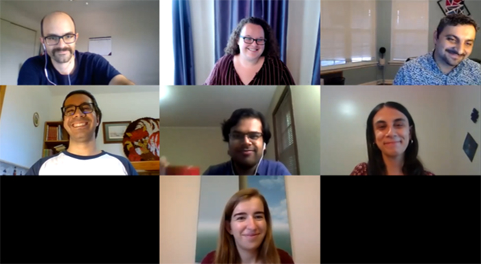 Zoom screen with multiple members of the EACC Leadership Team displayed