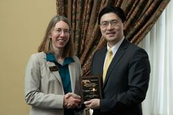 Janet Beagle with Dean Chiang