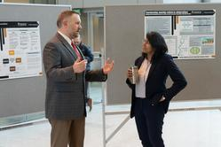 (L) Nate Engelberth, Director of Academic Programs, ABE; (RIGHT) Darshini Render, Assistant Director, Student Success