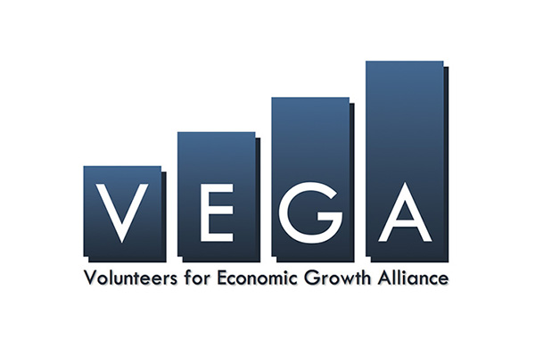 VEGA: Volunteers for Economic Growth Alliance Logo