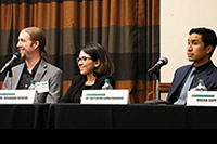 Photo of Purdue IEs on disaster resilience panel