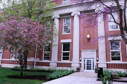 Photo of Grissom Hall in spring