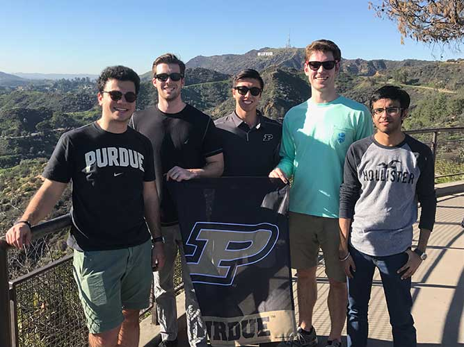 5 IE seniors visit CA to begin sr project