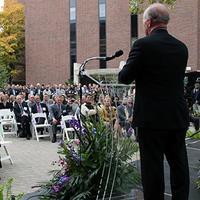 Purdue President Mitch Daniels speaking