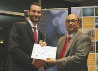 Assistant Professor Mario Ventresca received the Pritsker Best Teacher Award