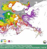 Louisiana Coastal Master Plan Flood Depths